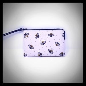 COACH BEE PATTERN WRISTLET LIMITED EDITION